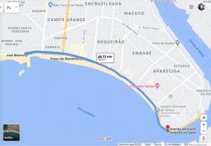 Mapa do roteiro Pedal Parceiro